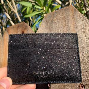 Kate spade Joeley Credit Card Holder Glitter Black